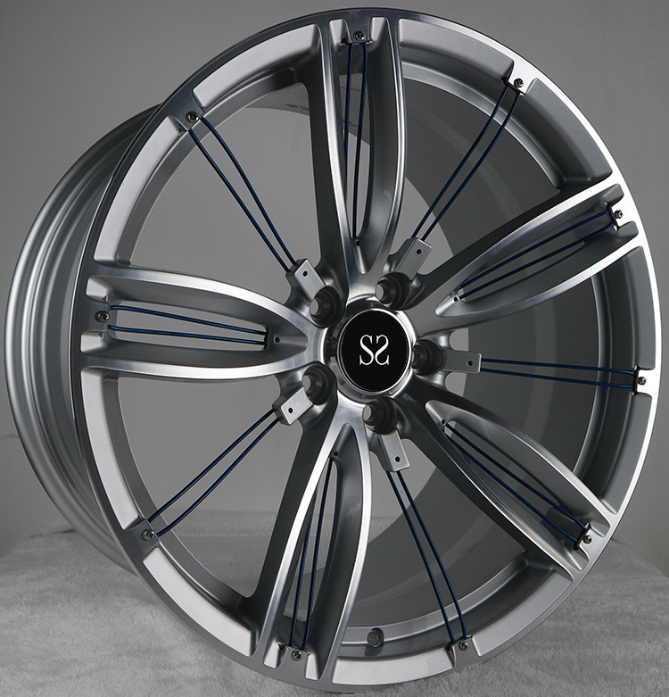 Hyper Silver 20 Inch Rims 1-Piece Forged Wheels For Maserati Car Rims in 5x114.3